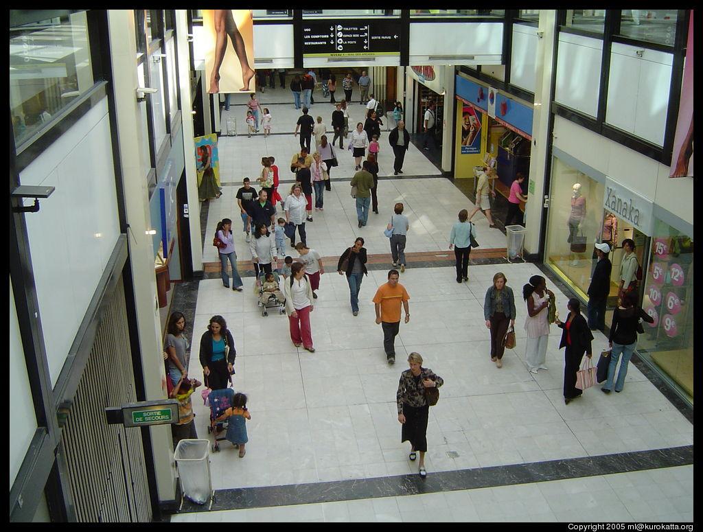 Paris ao t 2005 - Centre commercial des quatre temps ...