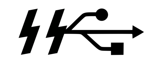 USB logo marked with SS in runic alphabet